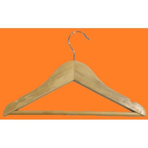 cabide infantil de madeira com barra MC-1255